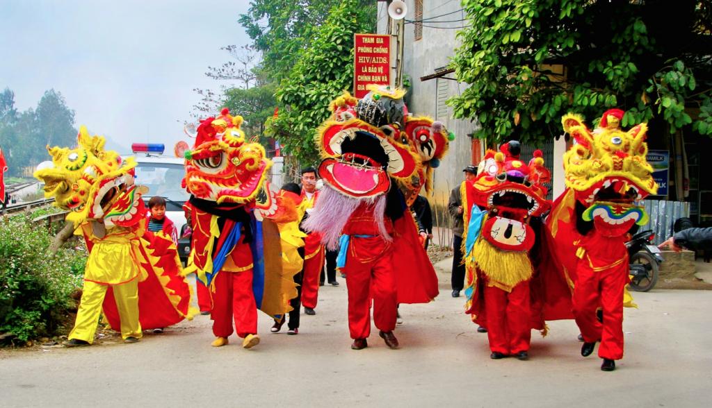 Lion Dance Tet